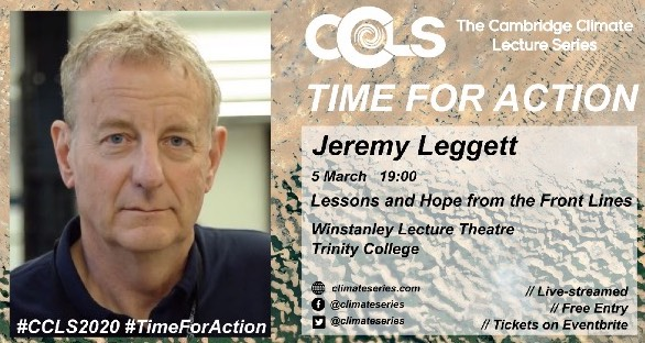 Jeremy Leggett Cambridge Climate Lecture Series 2020 ccls2020