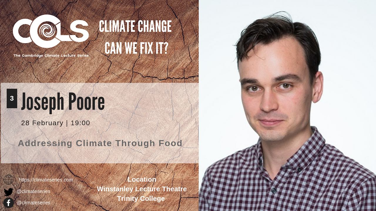 Joseph Poore Climate change impact of food CCLS19